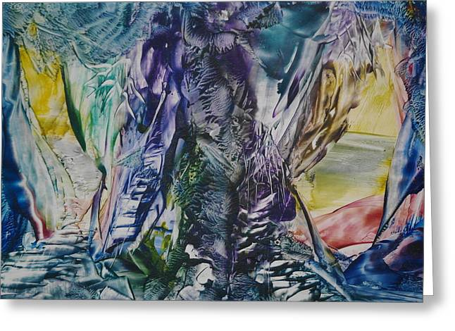 Tree Roots Paintings Greeting Cards - A Journey Below Greeting Card by Pat O Neill