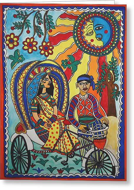 Shakhenabat Kasana Greeting Cards - A Journey by Rickshaw Greeting Card by Shakhenabat Kasana