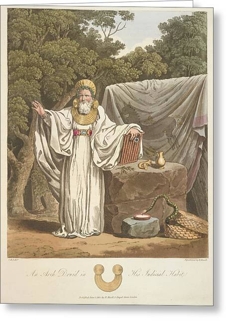 A Judicial Druid Greeting Card by British Library