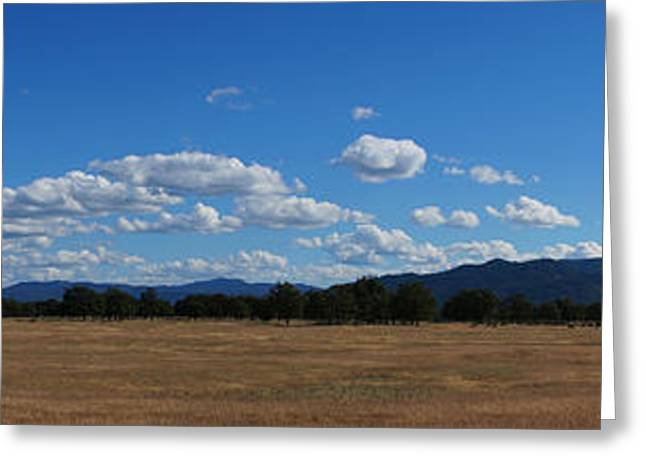 Mick Anderson Greeting Cards - A June Panorama in Southern Oregon Greeting Card by Mick Anderson