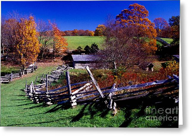 Split Rail Fence Greeting Cards - A Kentucky Mountain Homestead Greeting Card by Paul W Faust -  Impressions of Light