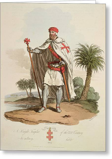 A Knight Templar Greeting Card by British Library