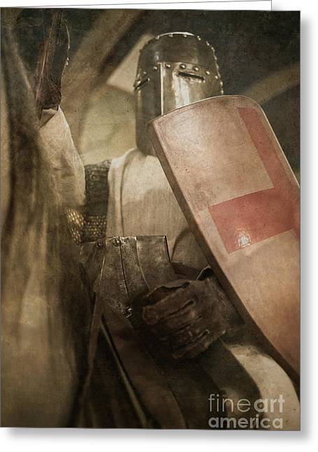 Crusade Greeting Cards - A knight to remember Greeting Card by Edward Fielding