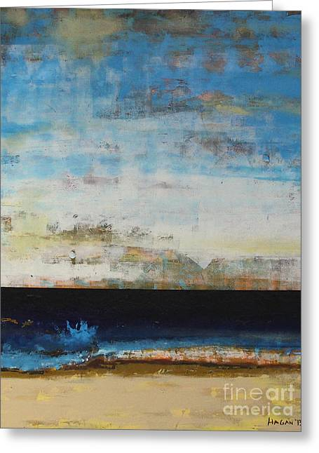 Sea Scape Greeting Cards - A la Plage Cropped Greeting Card by Sean Hagan