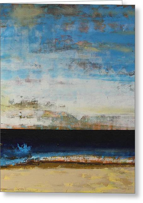 Sea Scape Greeting Cards - A la Plage Greeting Card by Sean Hagan