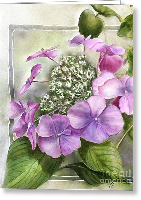 Joan A Hamilton Greeting Cards - A Lacy Cap Greeting Card by Joan A HAmilton
