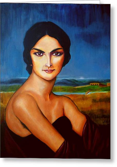 Gypsy Greeting Cards - A Lady Greeting Card by Manuel Sanchez