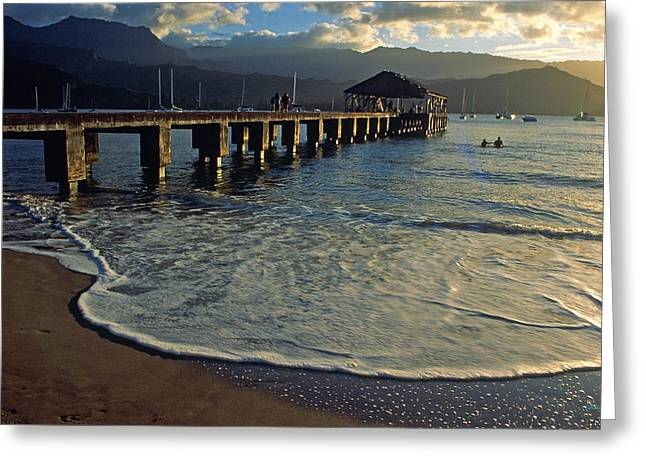 Hanalei Beach Greeting Cards - A Land Called Hanalei Greeting Card by Kathy Yates