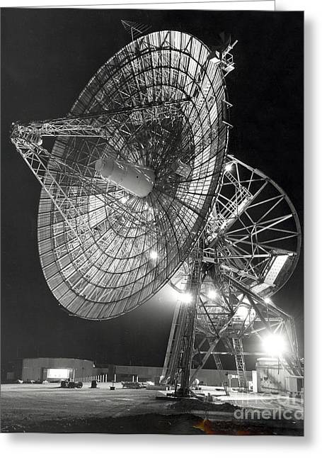 1960-1969 Greeting Cards - A Large Antenna Operated At Deep Space Greeting Card by Stocktrek Images