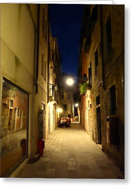 Venice Greeting Cards - A Late Aperitif  Greeting Card by Bishopston Fine Art