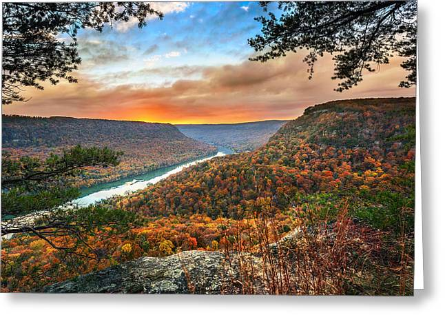 Best Sellers -  - Tennessee River Greeting Cards - A Late Autumn View Greeting Card by Steven Llorca