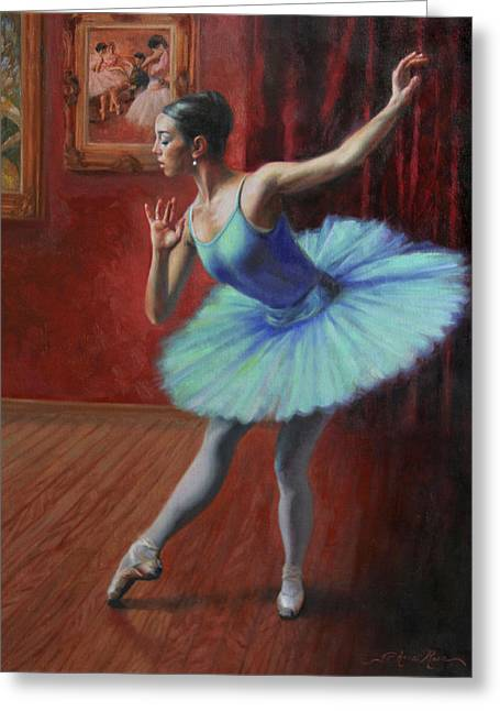 Ballerina Greeting Cards - A Legacy of Elegance Greeting Card by Anna Bain