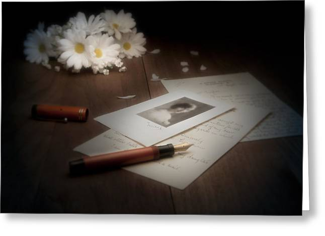 A Letter from Mary Still Life Greeting Card by Tom Mc Nemar
