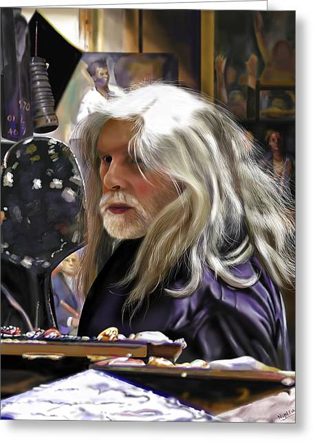 At Work Greeting Cards - A Life of Colour - Robert Lenkiewicz -1941 - 2002 Greeting Card by Nigel Follett