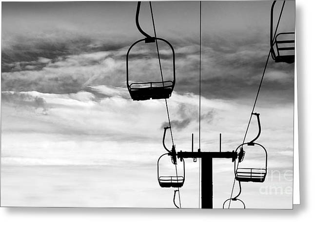 Skiing Posters Photographs Greeting Cards - A Lift Greeting Card by Jennifer Mecca