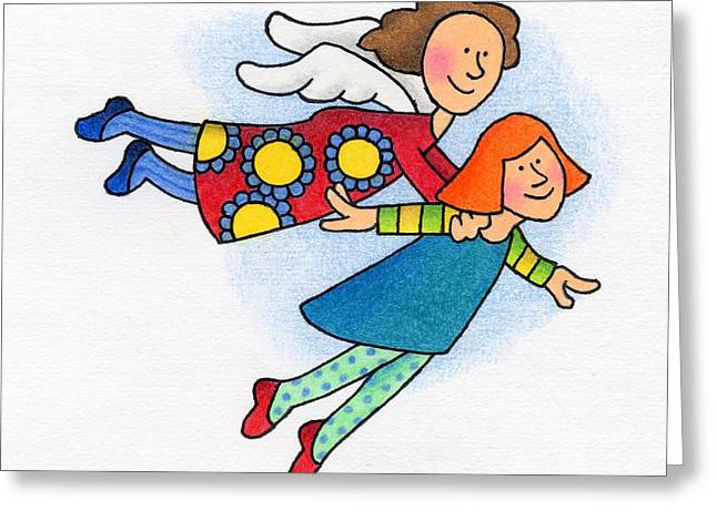 Daughter Gift Greeting Cards - A Lift Up Greeting Card by Sarah Batalka
