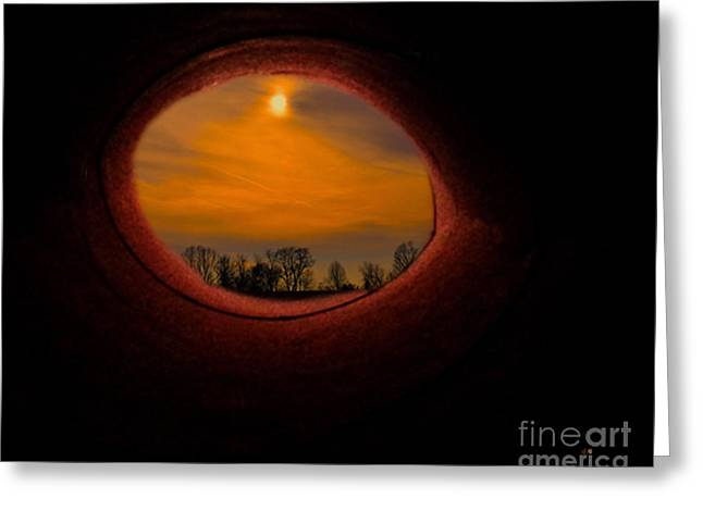 Landscape Framed Prints Mixed Media Greeting Cards - A Light At The End Of The Tunnel Greeting Card by Gerlinde Keating - Keating Associates Inc