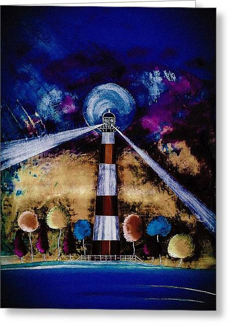 Seacape Digital Art Greeting Cards - A Light for the Trees 20 Greeting Card by Barry Knauff