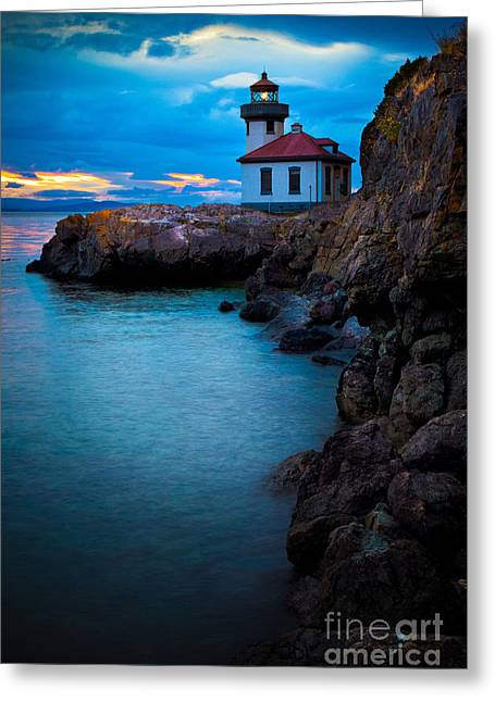 Kiln Greeting Cards - A light in the darkness Greeting Card by Inge Johnsson