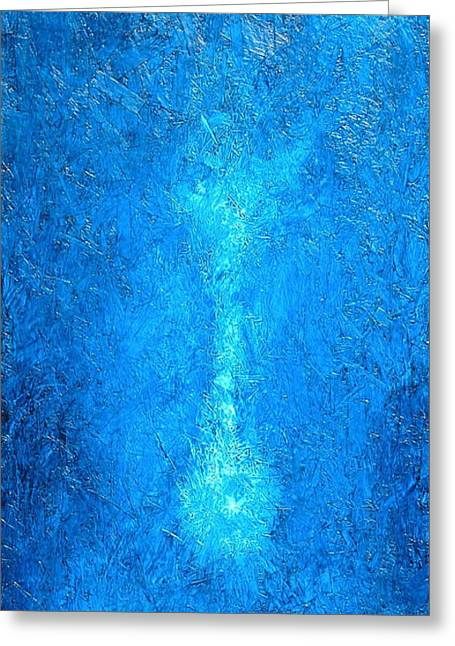 Oil Reliefs Greeting Cards - A Light in the Sky 1 Greeting Card by Mike Lanni