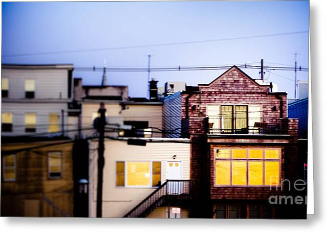 Urban Images Greeting Cards - A Light in the Window Greeting Card by Colleen Kammerer