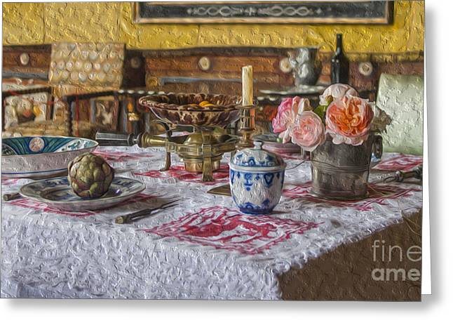 Mealtime Digital Greeting Cards - A light lunch Greeting Card by Patricia Hofmeester