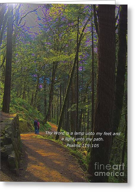 A Light Unto My Path Greeting Card by Charles Robinson