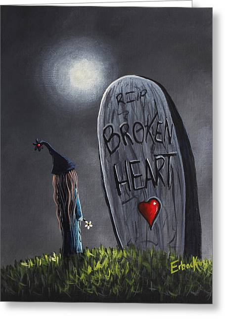 A Little Bit Broken Original Painting Greeting Card by Shawna Erback