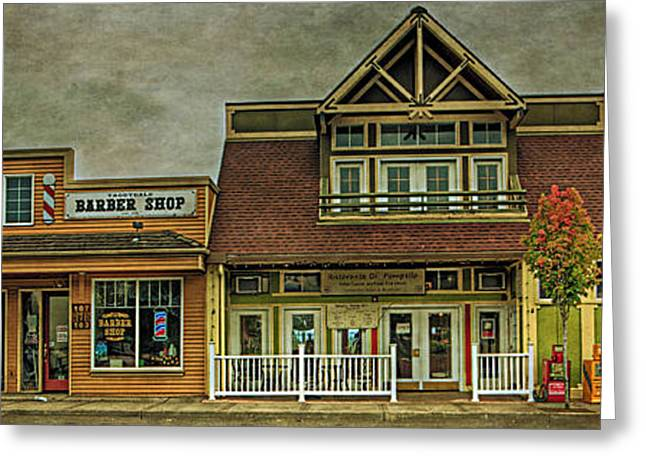 Store Fronts Greeting Cards - A Little Bit Of Troutdale Greeting Card by Thom Zehrfeld