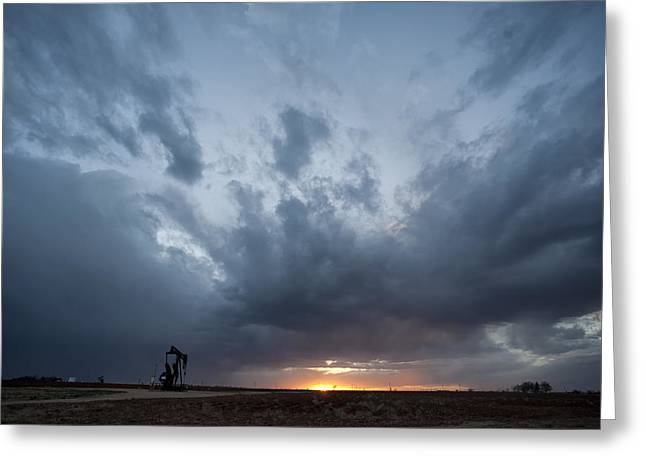 Mancave Photos Greeting Cards - A Little Bit of Weather Greeting Card by Melany Sarafis