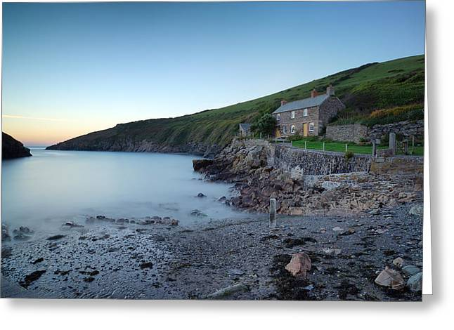 Kernow Greeting Cards - A Little Cottage By The Sea Greeting Card by Helen Hotson