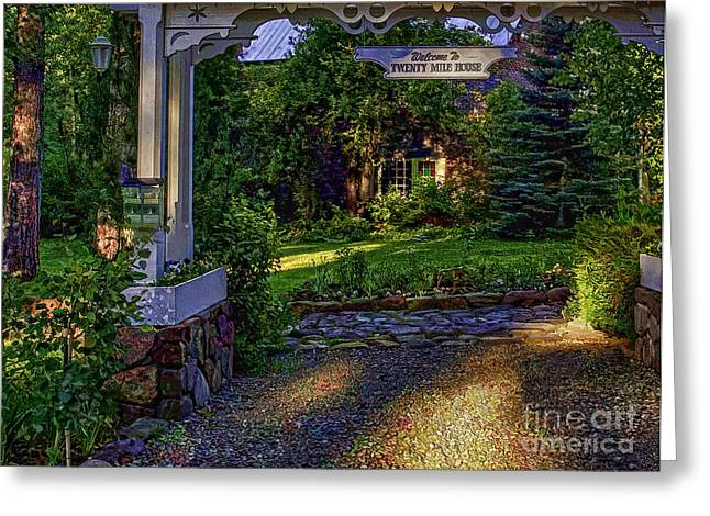 Charming Cottage Digital Art Greeting Cards - A Little Cottage In The Woods Greeting Card by Nancy Marie Ricketts