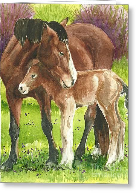 Linda L Martin Artist Greeting Cards - A Little Cuddle Greeting Card by Linda L Martin