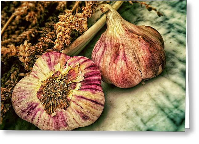 Pungent Greeting Cards - A Little Garlic Flavoring Greeting Card by Mountain Dreams