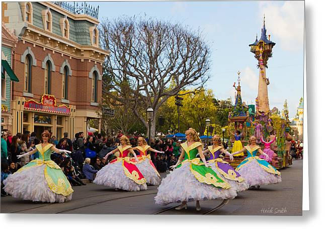 Disney Photographs Greeting Cards - A Little Girls Dream Greeting Card by Heidi Smith