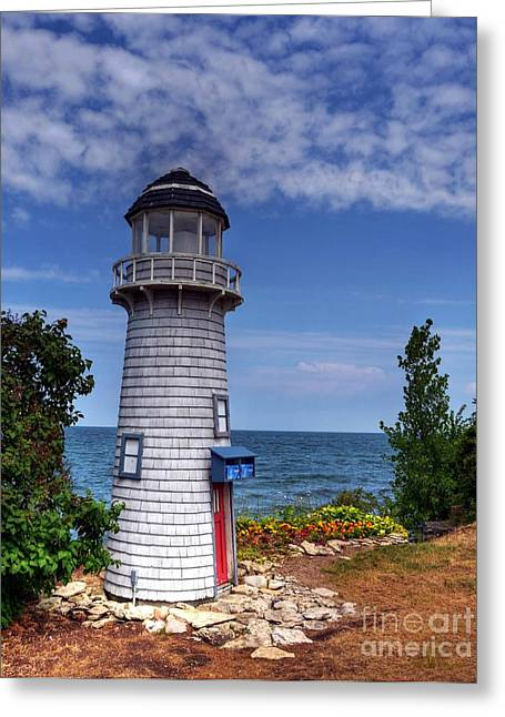 Kelly Greeting Cards - A Little Lighthouse Greeting Card by Mel Steinhauer