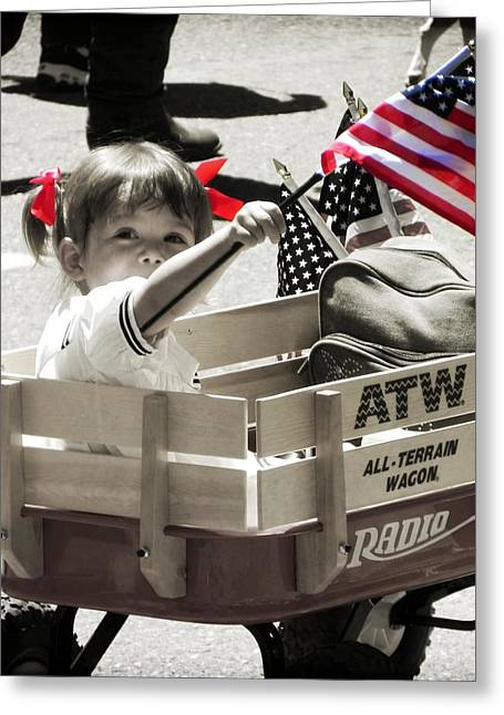 4th Of July Parade Greeting Cards - A Little Pride Greeting Card by Leah Moore