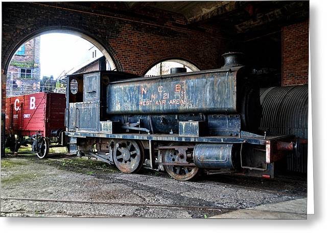 Colliery Greeting Cards - A locomotive at the colliery Greeting Card by RicardMN Photography