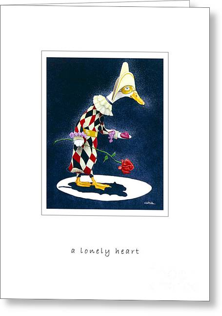 A Lonely Heart...just Like Pagliacci... Greeting Card by Will Bullas