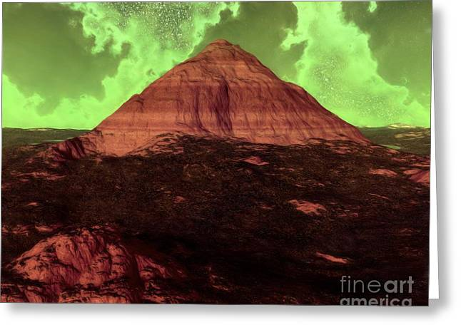 Landscape Posters Greeting Cards - A Lonely Mountain Greeting Card by Pet Serrano