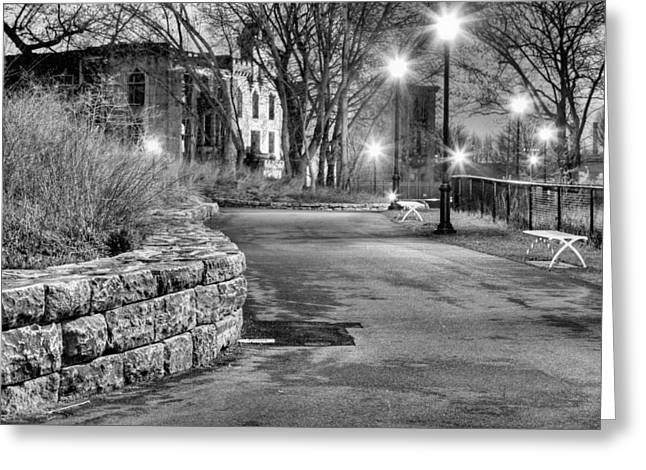 Streetlight Greeting Cards - A Lonely Night Greeting Card by JC Findley