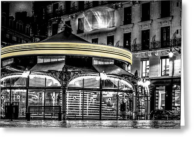 Faa Featured Greeting Cards - A Long Exposure on a french carousel Greeting Card by Stwayne Keubrick
