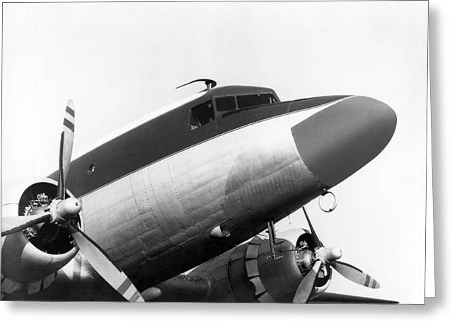 A Long Nose Dc-3 Aircraft Greeting Card by Underwood Archives
