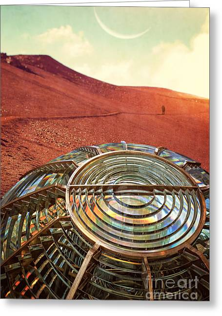Science Fiction Greeting Cards - A long walk home Greeting Card by Edward Fielding