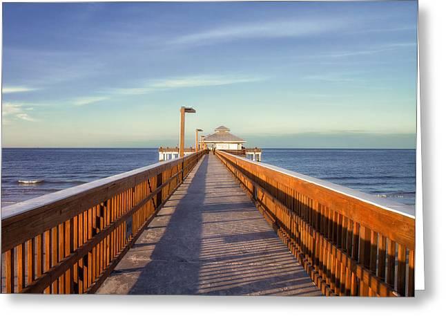 Tropical Beach Greeting Cards - A Long Walk Greeting Card by Kim Hojnacki
