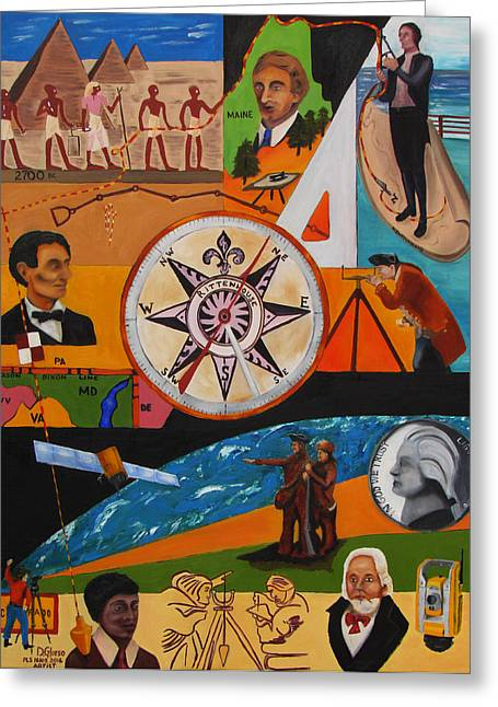 Surveying Paintings Greeting Cards - A Longstanding Profession Greeting Card by Dean Glorso