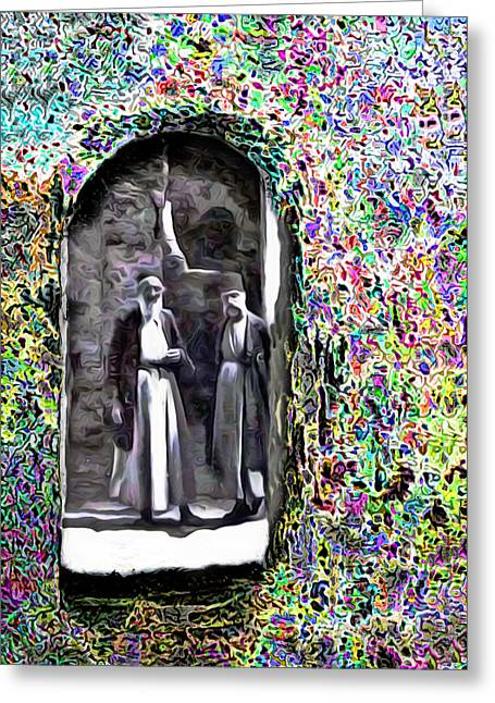 Hebron Greeting Cards - A Look Into The Past Greeting Card by Munir Alawi