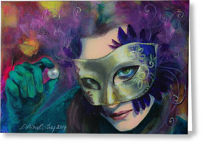 Emotion Art Greeting Cards - A Losing Game Greeting Card by Dorina  Costras