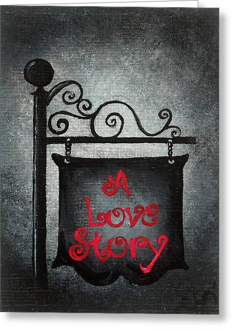 Oddball Art Greeting Cards - A Love Story No 10 Greeting Card by Oddball Art Co by Lizzy Love