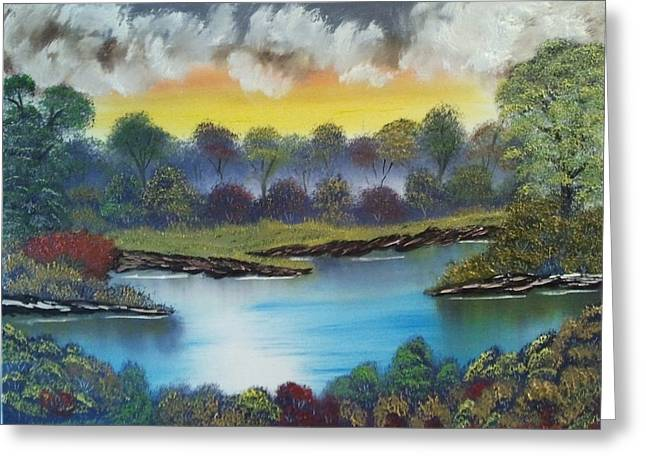 A Lovely Day In The Shenandoah Greeting Card by Lee Bowman